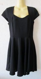 Job Lot of 10 'Club L' Crepe Skater Black Dress - Size 12 - New With Tags - CAR BOOT/MARKETS ETC