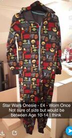 Star Wars Onesie - Age 10-14 - Worn Once