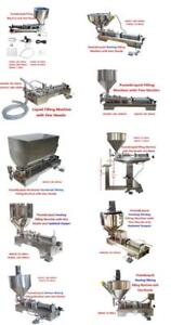 110V Paste&Liquid Filling Machine with Hopper and Hopper for Sauce Paste Cream Butter