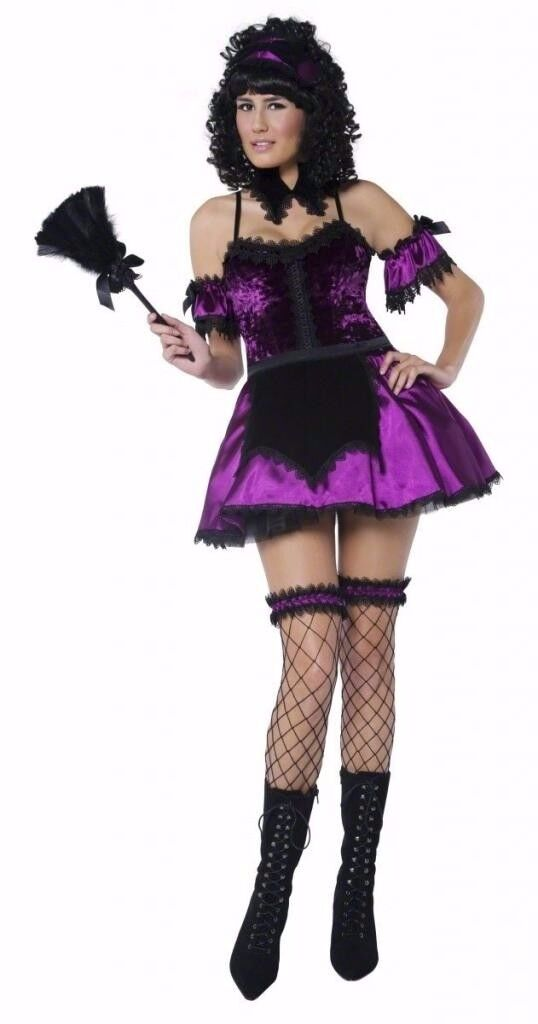 GOTHIC HOUSEKEEPER/ MAID FANCY DRESS OUTFIT SIZE 8/10 CHRISTMAS OR NEW YEAR PARTY