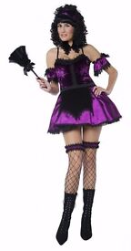 GOTHIC MANOR MAID FANCY DRESS OUTFIT GREAT FOR PARTY OR HEN DO 8/10 3 AVAILABLE