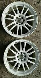 "Two 17"" Alloy Wheels"