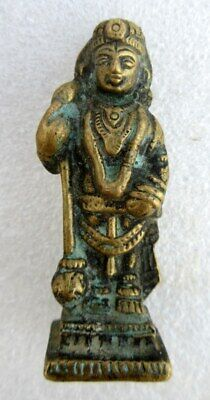 Antique Old Rare Brass South Indian Hindu God Vishanu Incarnation Figure Statue
