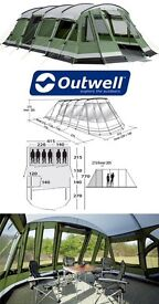 Outwell Vermont LP 6 person tent - in excellent condition, owner has OCD!