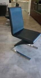 4 black faux leather Z chairs