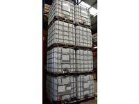 USED 275 gallon IBC liquid storage cubes.