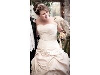 D'Arcy Scott Champagne Taffeta Designer Wedding Dress. £300 or any offer bargain For Sale
