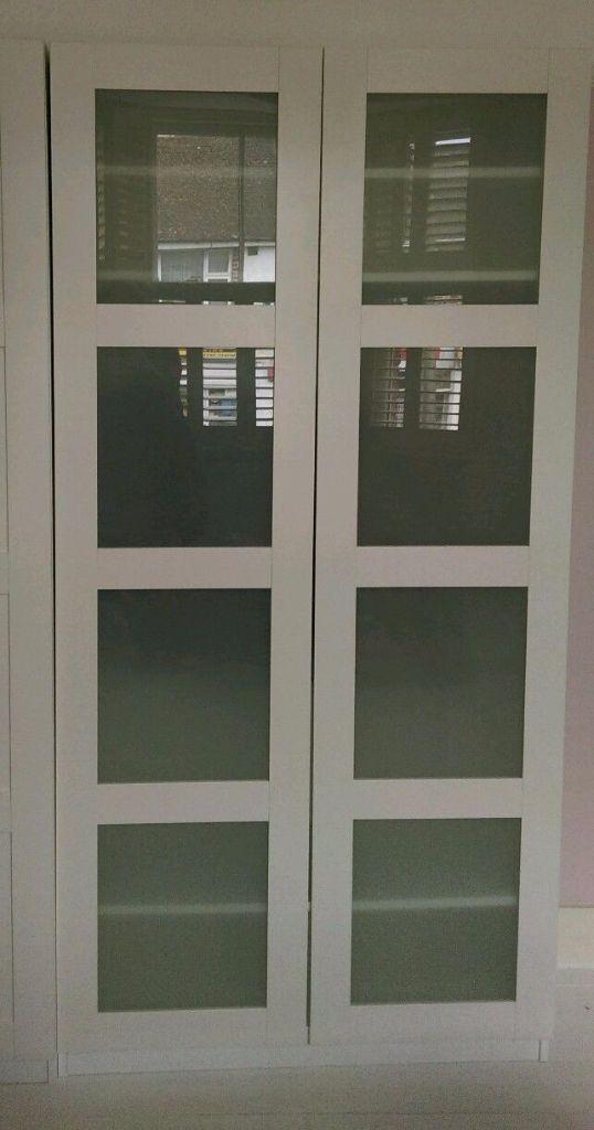 Ikea pax bergsbo frostglas  Ikea Pax Double Wardrobe with Bergsbo doors | in Hersham, Surrey ...