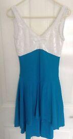Lyrical Dress, Aqua Colour