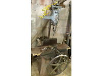 Vintage Mortice Drill and stand
