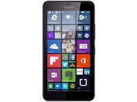 "Microsoft Lumia 640 5"" Display 8MP Black Locked To Orange Network like new"