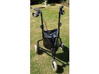Three wheeled Rollator or shopping aid