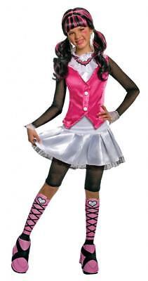 Mädchen Kind Monster High Deluxe Draculaura Rosa & - Deluxe Vampir Kind Kostüme