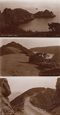 3 Sark Judges 4550 , 2427 , 2425  unused RP old postcards