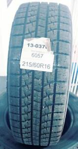 PNEUS HIVER USAGÉS / USED WINTER TIRES 215/60R16 21560R16 KUMHO ICE POWER KW21