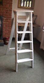 Wooden Vintage Step Ladders - Wedding Display - Shabby Chic