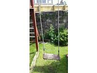 Very strong Wooden swing seat and attachments.