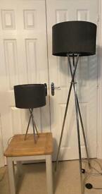 Next tripod floor & table lamp