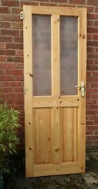Pine Glazed internal door - Excellent condition