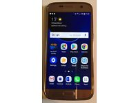 Samsung Galaxy S7 32gb (plus 32gb micro SD card) - Unlocked - Pink Gold - Pristine Condition