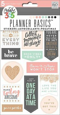 Create 365 The Happy Planner Stickers   Rose Gold   5 Shts