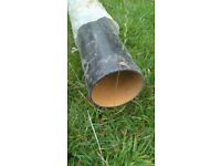 Free wrought iron down pipe