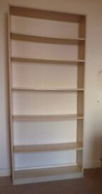2 x Bookcase Standard Beech effect IKEA Billy style with adjustable shelving