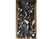 Coast Brown & Cream Print Strapless Dress