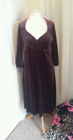 ladies m/spencer velvet dress size 16