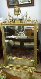 Stunning Highly Ornate Gold Gilt Mirror. Statement Piece. Baroque VTG Style