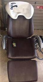 Hair Salon Back Wash with Reclining & Massaging Chair