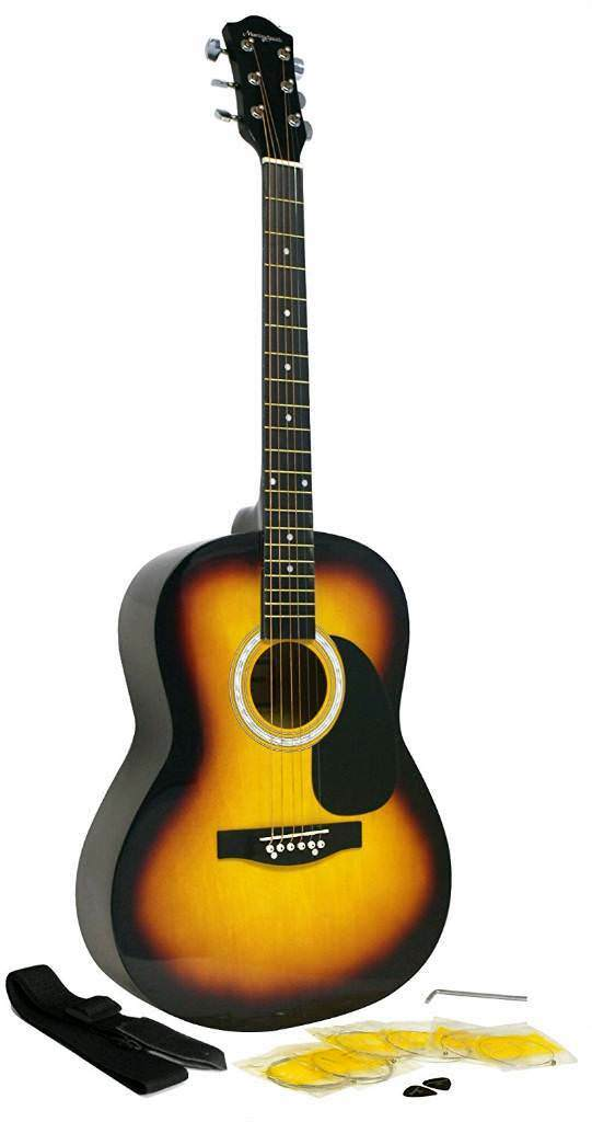 Martin Smith W 100 Acoustic Guitar Package With Strings Plecs Strap