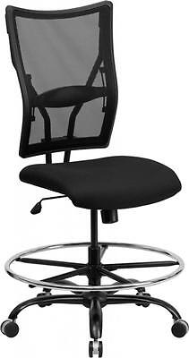 Hercules Series 400 Lb. Capacity Big Tall Black Mesh Drafting Stool Chair New