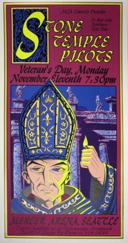 Justin Hampton - 1996 - Stone Temple Pilots Concert Poster 12 x 24