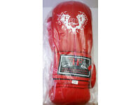 Furiousfistsuk Synthetic Leather 14oz Training Gloves (Red wings Color)