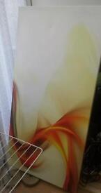 wall art canvas orange yellow and white