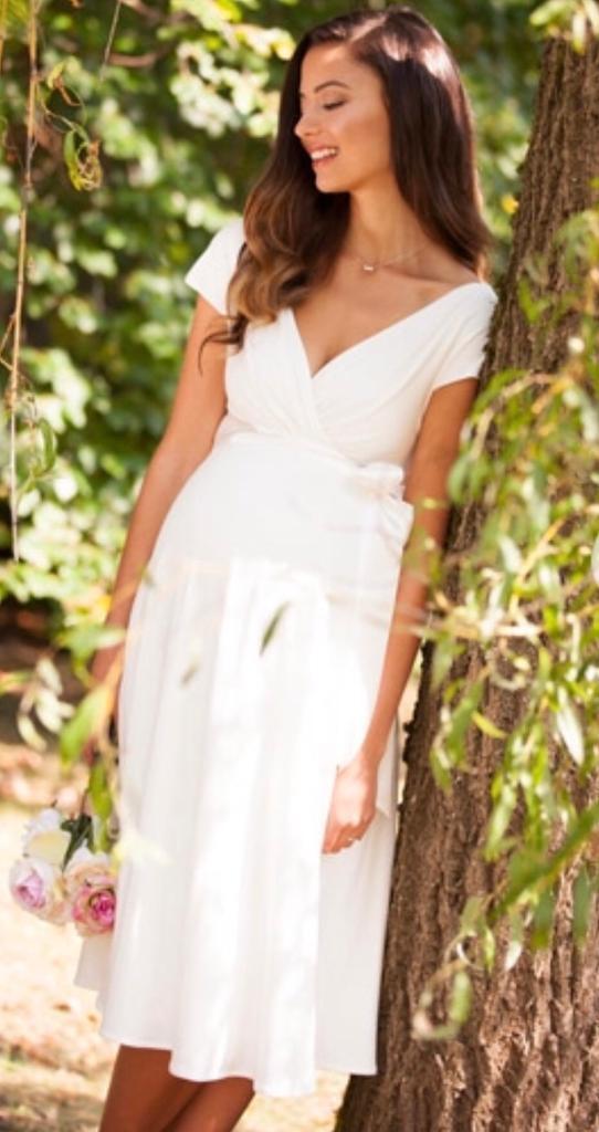 56bac6473fb4f NEW Tiffany Rose Alessandra Maternity Wedding Dress - Small Size 1 8-10