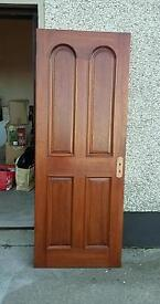 13 Mahogany Doors (2 with bevelled glass panes)