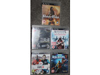PS3 Titles as pictured.