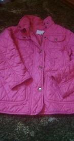 Lovely girls pink next jacket age 5/6