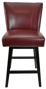 Swivel Counter HeightStool in Grey, Red, White, Brown and Black Leather