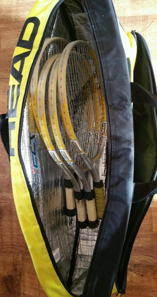 Slazenger Tennis Bags 4 x Slazenger Tennis Rackets