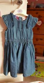 Summer denim style dress aged 3/4 years
