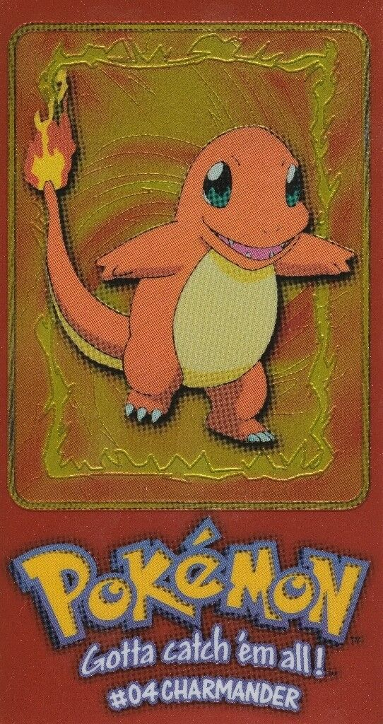 Pokemon Topps Trading Cards Series 1 Charmander Extra-large Chrome Card