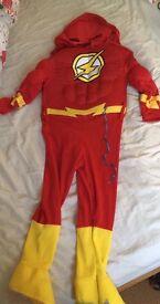 Superhero the flash fancy dress age 2-3