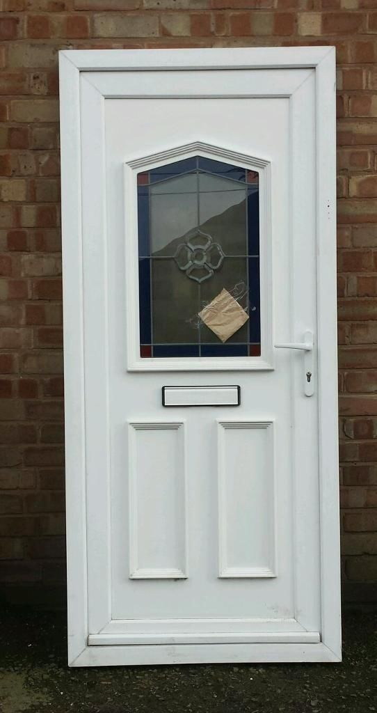 Upvc front door with frame and key buy sale and trade ads for Coloured upvc doors