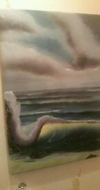 THE WAVE Seascape in oil