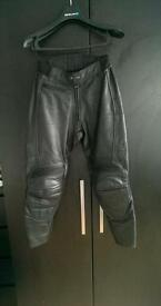 Ladies motorcycle Leather trousers size 10