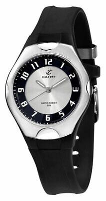 Calypso Watches   Damenarmbanduhr Kunststoff schwarz mit Leuchtzeigern K5162/3