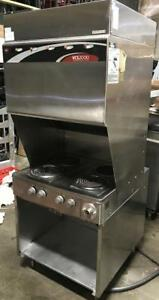 Wells ventless  hood with 4 burners -